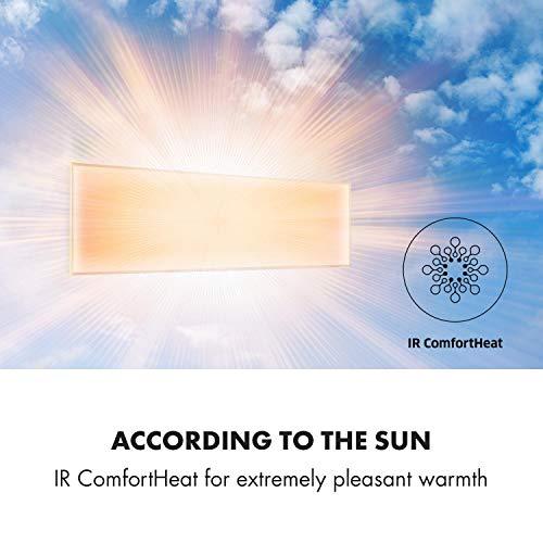 Klarstein-Wonderwall-30-Calefactor-infrarrojo–Aparato-porttil–Panel-Calefactor-de-30-x-100-cm–300-W–Cristal-de-Carbono–Programable–Autoapagado–Apto-para-alrgicos–IP24–Blanco
