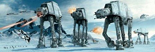 1art1 60480 Star Wars Tür-Poster - at-at Kampfläufer Auf Dem Eisplaneten Hoth, 158 x 53 cm