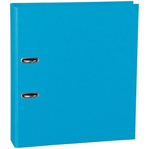 Semikolon (353342) klassischer Ordner breit (Rücken 7 cm) turquoise (türkis) | Ringordner, Aktenordner | Format: 28,5 × 32 cm, Rücken 7 cm
