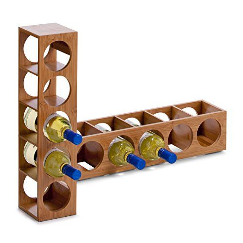 Zeller 13565 - Botellero de bambú