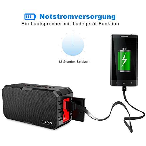 Bluetooth Lautsprecher Wasserdicht, IP67 Bluetooth Speaker Outdoor Badezimmer  Lautsprecher Für Handy, Mit 10W 3000mAh ...