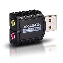 AXAGON ADA-10 - External USB Soundkarte, Stereo Audio Mini Adapter