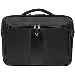 V7 Professional II Frontloader - Funda (Maletín clásico, Negro, Monótono, Cuero, Nylon, Poliuretano, Resistente a rayones, China)