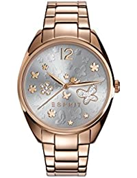 Esprit–tp10892or rose montre bracelet à quartz analogique en acier inoxydable es108922003