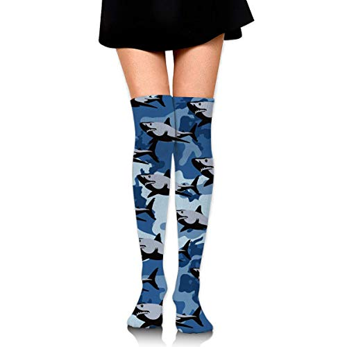 HiExotic Strümpfe Breathable Skull and Crossbones Tube Socks Over Exotic Psychedelic Print Compression High Tube Thigh Boot Stockings Knee High Women Girl -