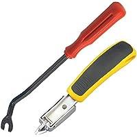 Quitagrapas, valink operación manual resistente quitagrapas tapicería PANEL Clip con uñas Tack extractor oficina mano herramientas