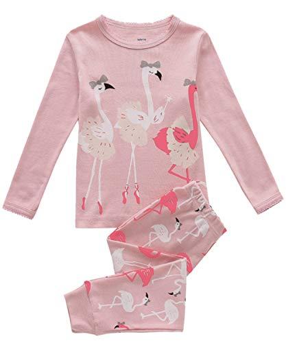 Pijama para niñas con diseño de Sirena, 2 Piezas, 100% algodón Gris Elefante 9-10 Años