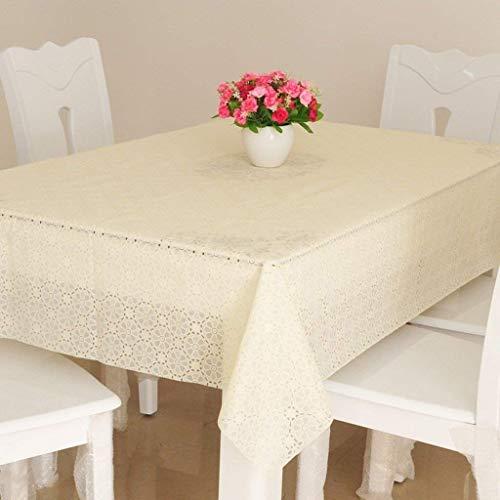 Accueil Nappe PVC Étanche Résistant À La Chaleur Résistant À La Chaleur Facile À Nettoyer Table Nappe Table Rectangulaire Nappe en Tissu