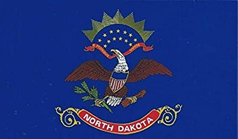 12,7 x 7,6 cm North Dakota State Drapeau Bumper Sticker fenêtre Stickers Stickers voiture