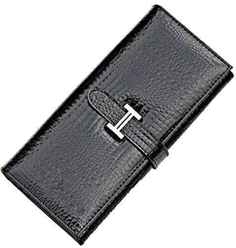 ZhiGe Portmonee Damen Frauenbrieftasche Patente Frauen Brieftasche Leder-Geldbörsen -