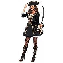 High Seas Pirate Captain Damen-Kostüm von Leg Avenue Piratin Kleid Hut sexy
