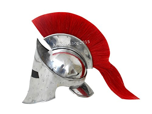ANTIQUENAUTICAS 300 Film Spartanischer König Leonidas Mittelalterlicher Römischer Helm Griechischer Liner Reenactment (Eishockey-helm-liner)