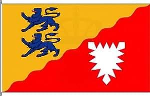 Königsbanner Kleinfahne Kreis Rendsburg-Eckernförde - 20 x 30cm - Flagge und Fahne