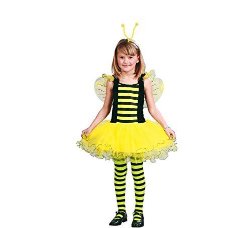 Biene - Kostüm für Mädchen Gr. 110 - 146, (Honig Biene Kostüm Kind)
