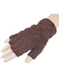 Femmes / Gants filles hiver Mitaines en peluche, 1 paire, brun