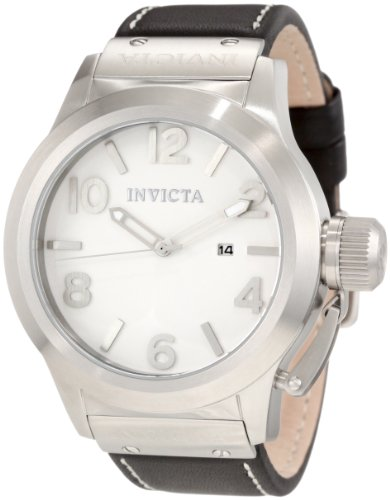 Invicta Men's 1134 Corduba White Dial Black Leather Watch image