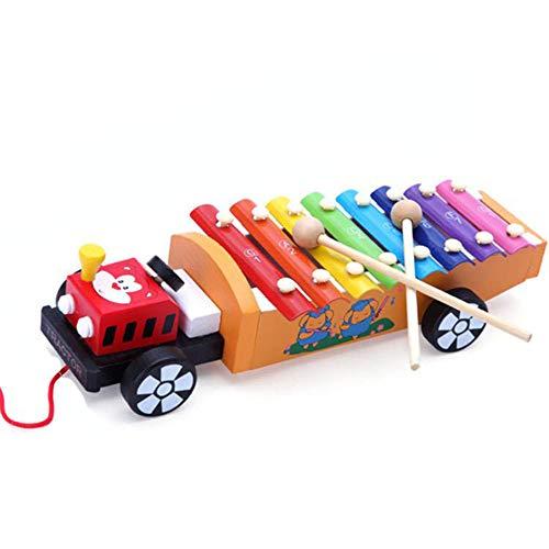 Kleinkinder Lernspielzeug Kinder Early Education Holz Lernspielzeug Drag On Jean Serie Ziehen des Zuges Acht Töne Spaß pädagogisches Spielzeug