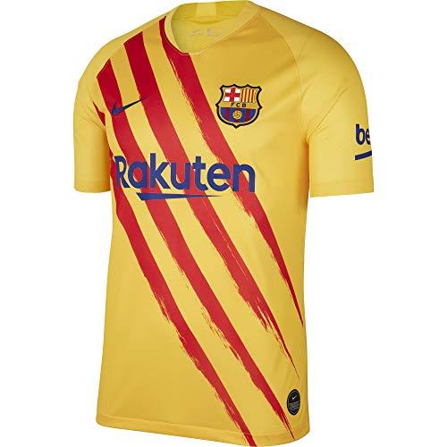 Nike FCB M Nk BRT Stad JSY SS Elc Camiseta, Hombre, Varsity Maize/Deep Royal Blue, S