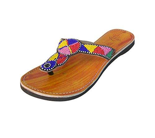 Donna Nella In Cammello Sandali Creazioni Indiana Pelle Kalra Etnica Tradizionale Di 56anwq