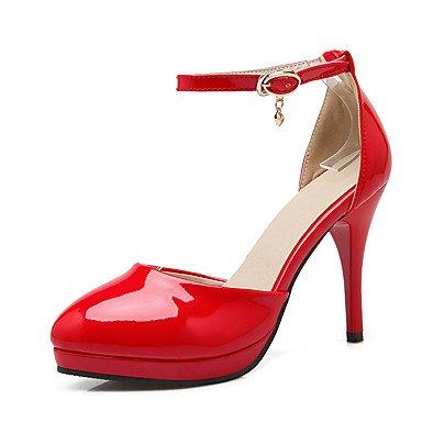 LvYuan Sandali-Matrimonio Ufficio e lavoro Formale-Club Shoes-A stiletto-Vernice-Nero Rosa Rosso Beige beige