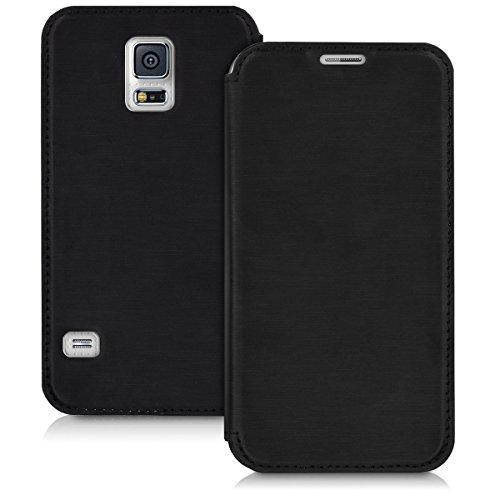 kwmobile Cover compatibile con Samsung Galaxy S5 / S5 Neo - Custodia protettiva apribile a libro - Flip Case con sportellino