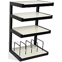 NorStone–elles hifi-mueble de vinyle, Couleur: Noir/Blanc