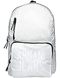 Armani Jeans Foldable Hombre Backpack Blanco