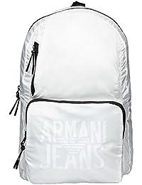 Armani Jeans Foldable Hombre Backpack Blanco