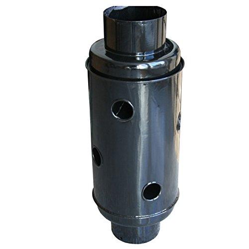 Abgaswärmetauscher Warmlufttauscher Wärmetauscher Rauchgaskühler Kaminrohr 150mm