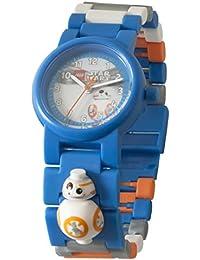 LEGO Star Wars 8020929 BB-8 Kinder-Armbanduhr mit Minifigur und Gliederarmband zum Zusammenbauen | blau/orange| Kunststoff  | analoge Quarzuhr | Junge/ Mädchen | offiziell