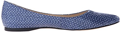 Nine West Speakup Ballet Synthetic Flat Off White/Navy