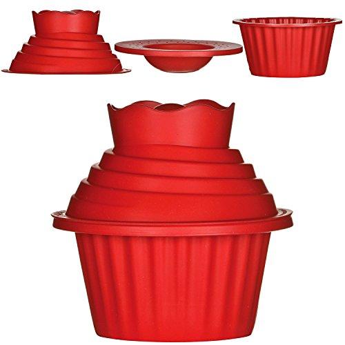 3pc pc piezas juego de Big Cup Cake de horno cupcake desierto molde moldes moldes de silicona gigante