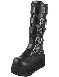 Demonia Trashville-518 3.25 Inch Platform 5 Buckled Black Pump Knee Boots Size 12