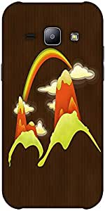 Snoogg Rainbow Above The Mountains 2688 Hard Back Case Cover Shield Forsamsun...