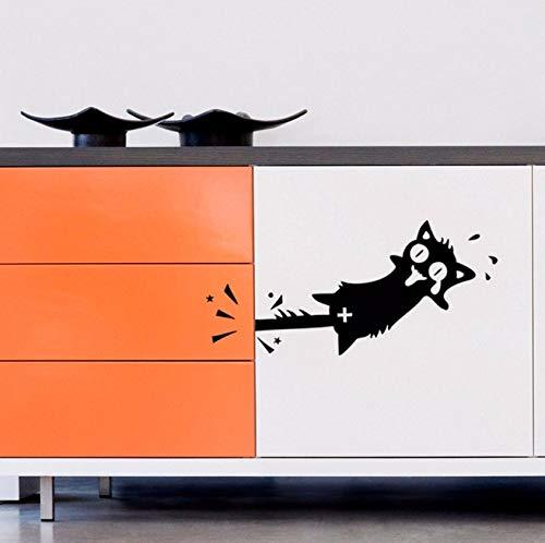 �cke Die Katze Schwanz Ist In Der Tür Wandaufkleber Wohnkultur Wohnzimmer Schlafzimmer Dekoration Tapete Für Kinder ()