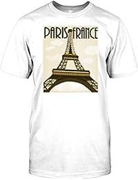 Paris - France - Vintage Retro Travel Poster Mens T Shirt