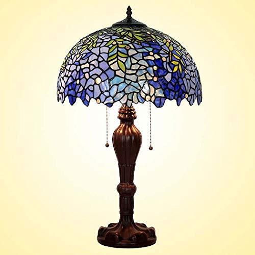 40w Nacht Licht (DSHBB Tiffany Style Table Lampe, romantisch, Wisteria gesteigt Glastisch Lichter, Retro Living Room, Schlafzimmer Dekoration Nacht Licht 40W)