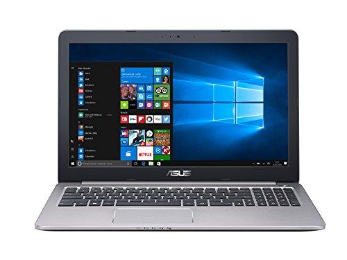 """Asus K501UQ-DM012T - Ordenador portátil de 15.6"""" (Intel Core i7-6500U, 8 GB de RAM, 1000 GB de disco duro, Windows 10) gris"""