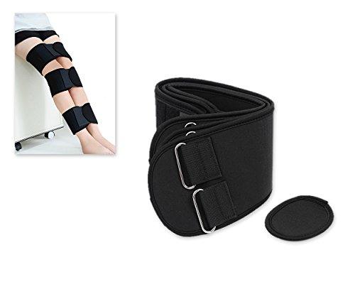 DSstyles 3 Stück Verstellbare Bein Korrekturband für O-Typ Bein und X Typ Bein - Schwarz - Large