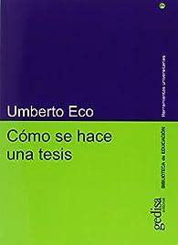 Cómo se hace una tesis par Umberto Eco