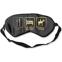 Golden Eat Sleep Ride 99% Eyeshade Blinders Sleeping Eye Patch Eye Mask Blindfold for Travel Insomnia Meditation preisvergleich bei billige-tabletten.eu