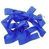 Sonline Gym Danza Cinta gimnastica Ritmica Streamer Vara Baton Twirling Partido del ano Nuevo Chino Color Azul
