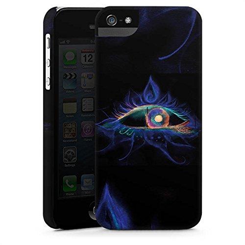 Apple iPhone 5s Housse étui coque protection ¼il ¼il Ésotérisme CasStandup blanc