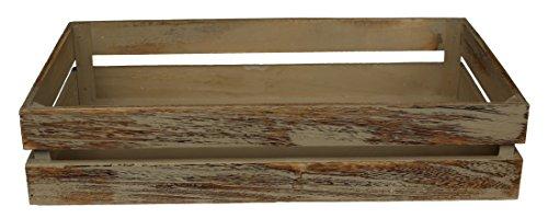 Red Hamper Rot behindern Eiche Effekt Holz Verpackung Box, Holz, braun, 50x 30x 10cm