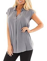 Volantes Camisetas Amazon Blusas es Camisas Gris Tops Y 5ggU1Tqw