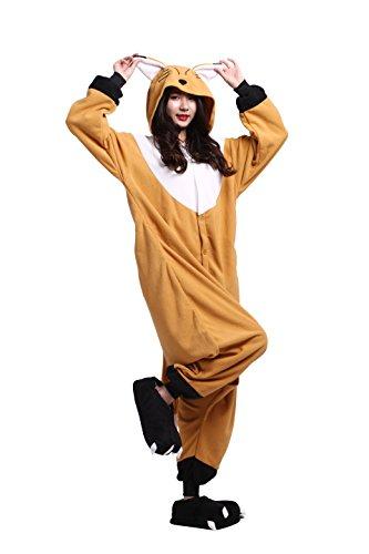 Imagen de yuwell onesie anime kigurumi cosplay animales trajes disfraz pijamas pyjamas ropa de dormir, zorro anaranjado l height 170 180cm
