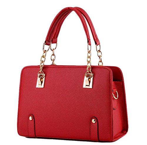 Modelli Estivi Ms. Borse Marea Catena Tracolla Moda Femminile Bag Messenger Red
