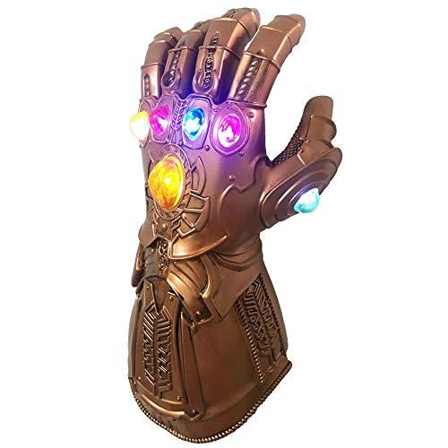 XIAO MO GU Guantes Thanos, Guantes de látex de los Vengadores Infinity War Thanos Infinity Guanteletes LED, Thanos Cosplay Guantes de látex Accesorios de Fiesta de Halloween