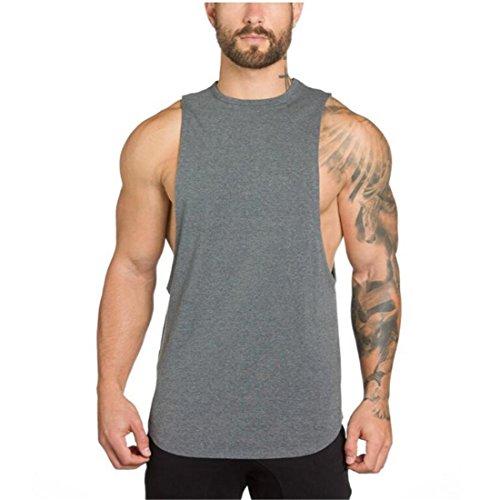 YeeHoo Hommes La Musculation Workout Débardeur sans...