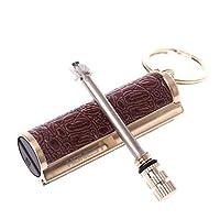 Qiulip Keychain Permanent Match Striker Lighter Keyring Golden